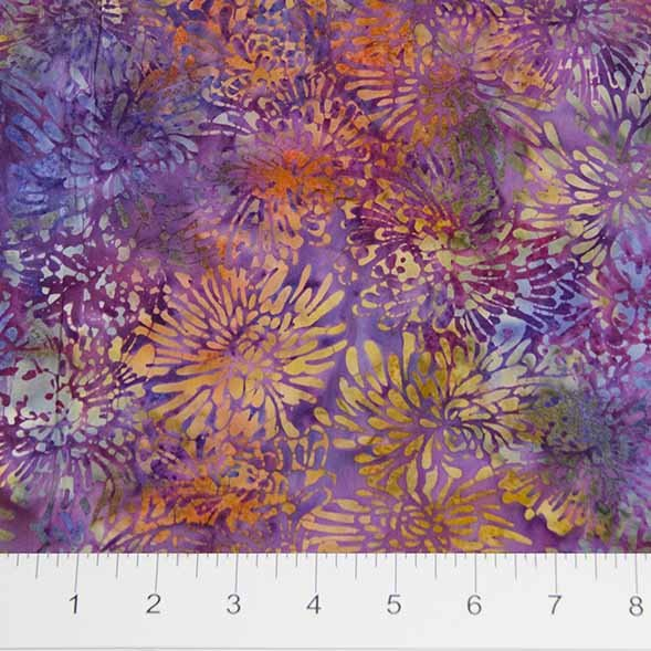 BB- Shattered Garden Purple & Gold Chrysanthemums
