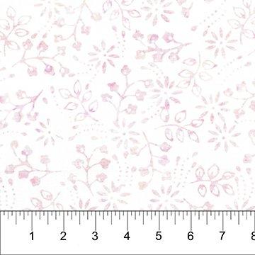 BB- Kayana Pink Flowers on White