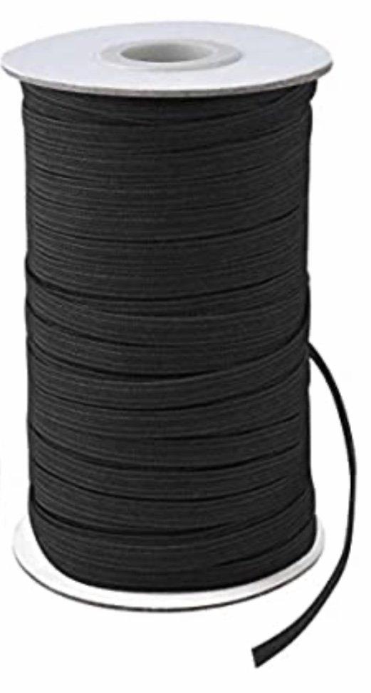 N- 1/8 Black Elastic