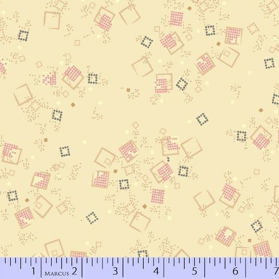 MARCUS- Futurum Beige With Pink Squares