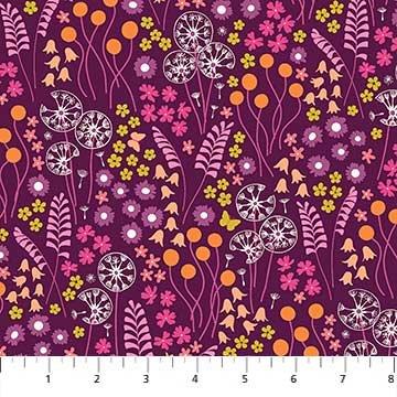 FIGO- Mountain Meadow Floral on Purple