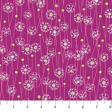 FIGO- Mountain Meadow Flower Circles on Magenta