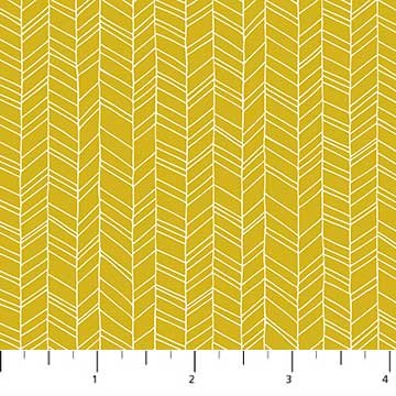 FIGO- Mountain Meadow Gold Herringbone