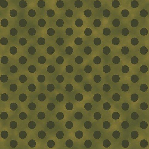 BLANK- Too Cute To Spook Green Polka Dots