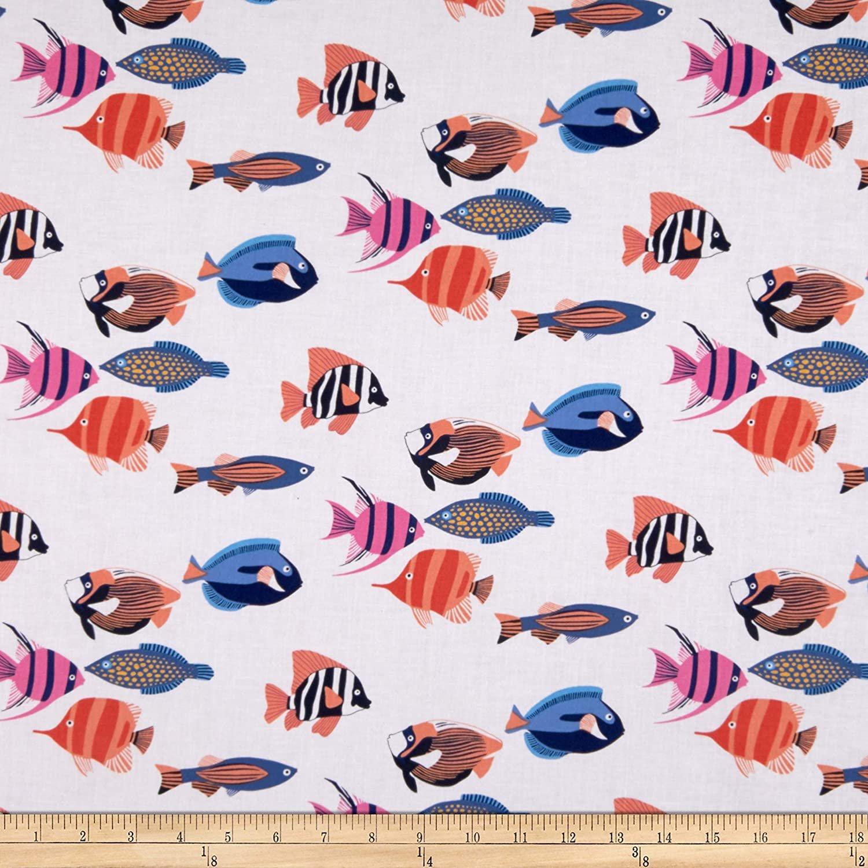 MM- Fishtopia White w/Multicolor Fish