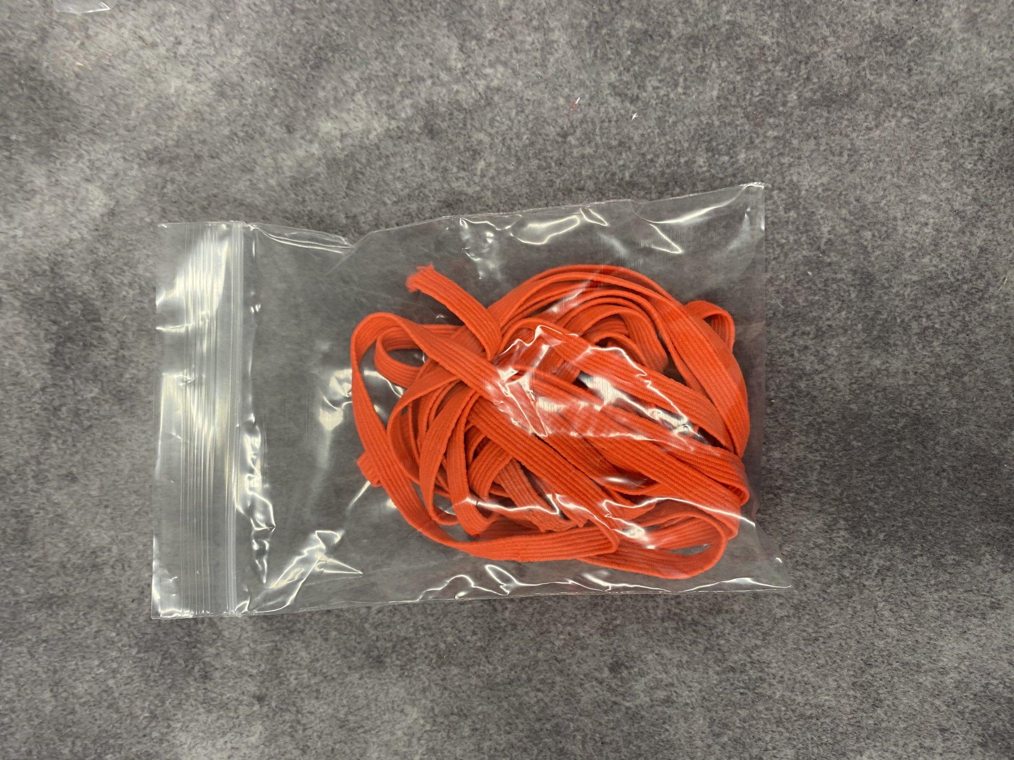 N- Neon Orange 1/4 Knit Elastic 3 yards