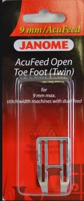 JAN- AcuFeed Open Toe Foot Twin 9mm