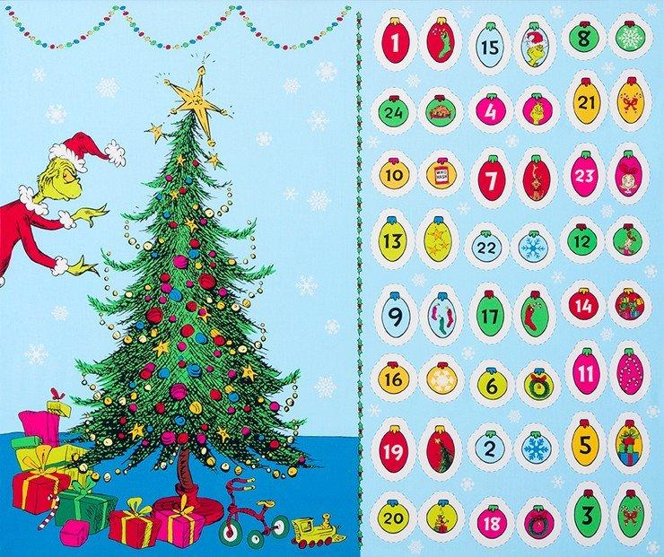 PANEL- How the Grinch Stole Christmas Advent Calendar