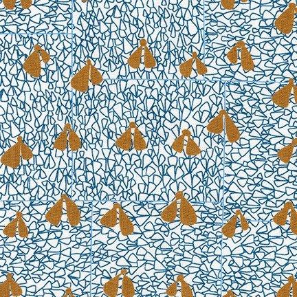 KAUF- Gleaned Blue Turq Triangles w/Brown V's