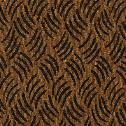 KAUF- Balboa Linen/Cotton Brown With Black Lines