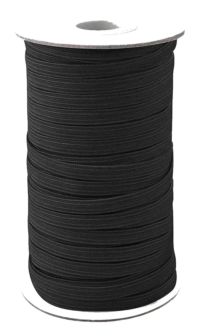 N- 1/4 Black Elastic