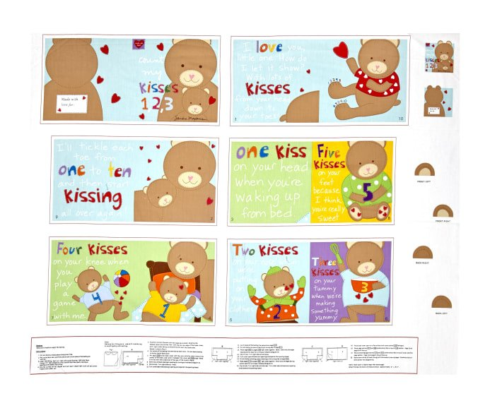 Panel- Huggable & Loveable Count My Kisses Book Panel
