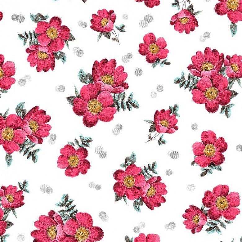 MM- La Parisienne Red/White Belle De Jour Floral