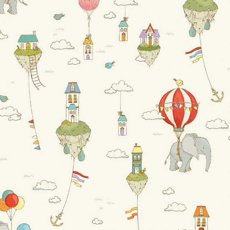 MM- City Hoppers Cream Island In The Sky Floating Motifs