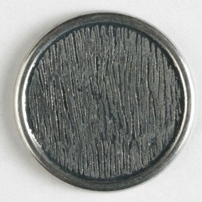 N- Button  Metal Antique Silver