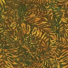 IB- Fern-Green and Brown Batik