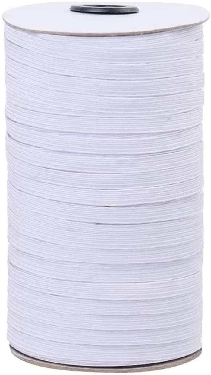 N- 1/4 White Elastic