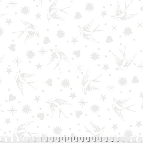 FREES- Linework by Tula Pink Fairy Flakes White