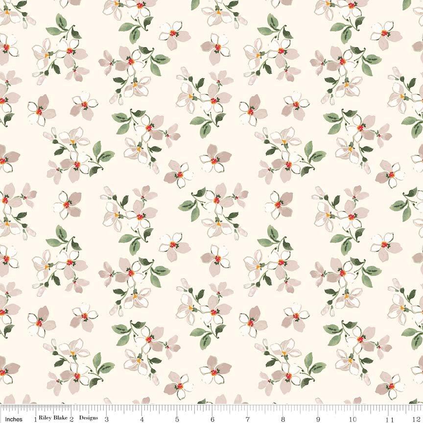 RB- Farmhouse Floral Toss Cream