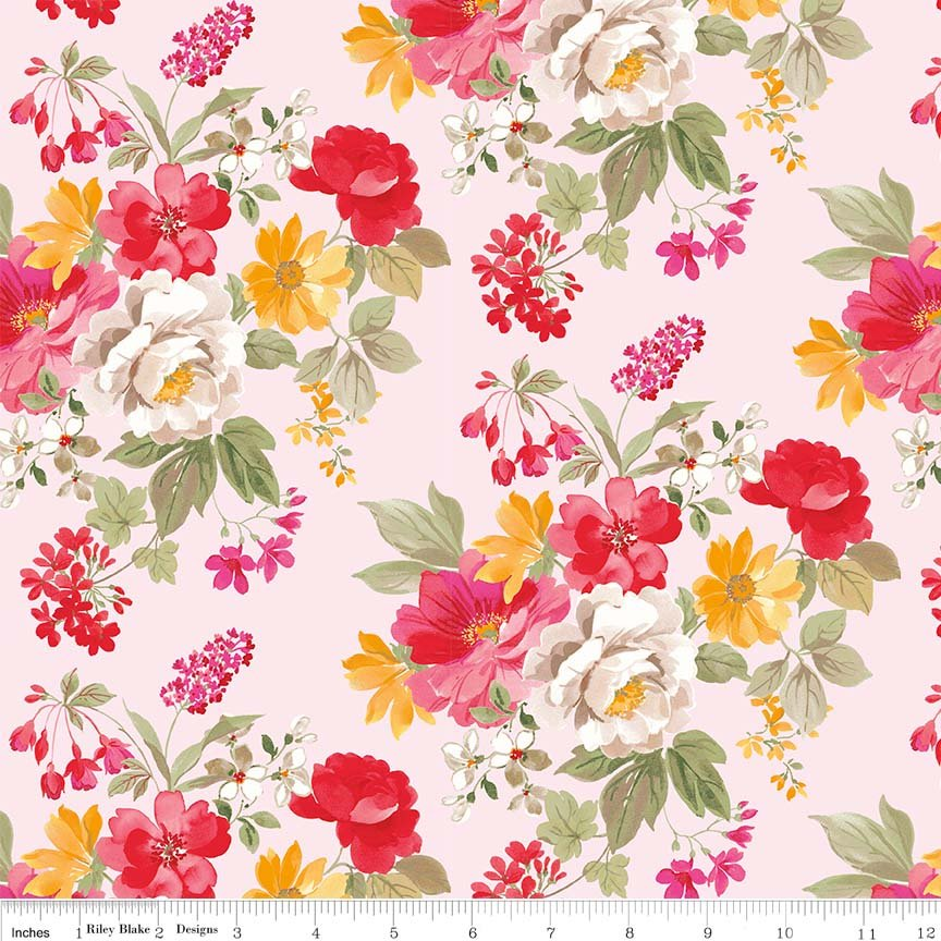 RB- Farmhouse Floral Main Pink