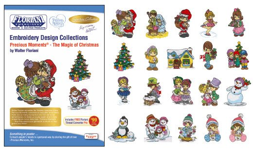 RNK- Precious Moments - The Magic of Christmas 20 Embroidery Designs