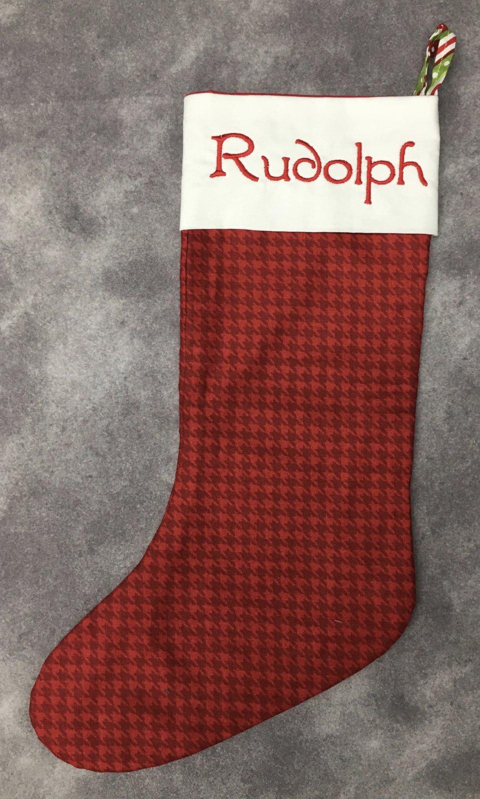 MODEL- Christmas Stocking Rudolph