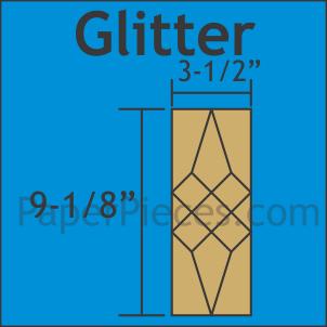 N- Paper Pieces Glitter Block Large Pack (48 pcs)