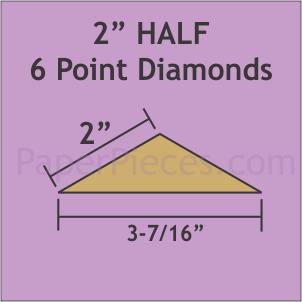 N- Paper Pieces Half 6-Point Diamonds 2 (80 pieces)