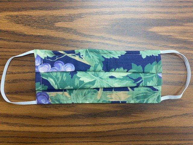 Handmade Fabric Masks Batch H Grapes