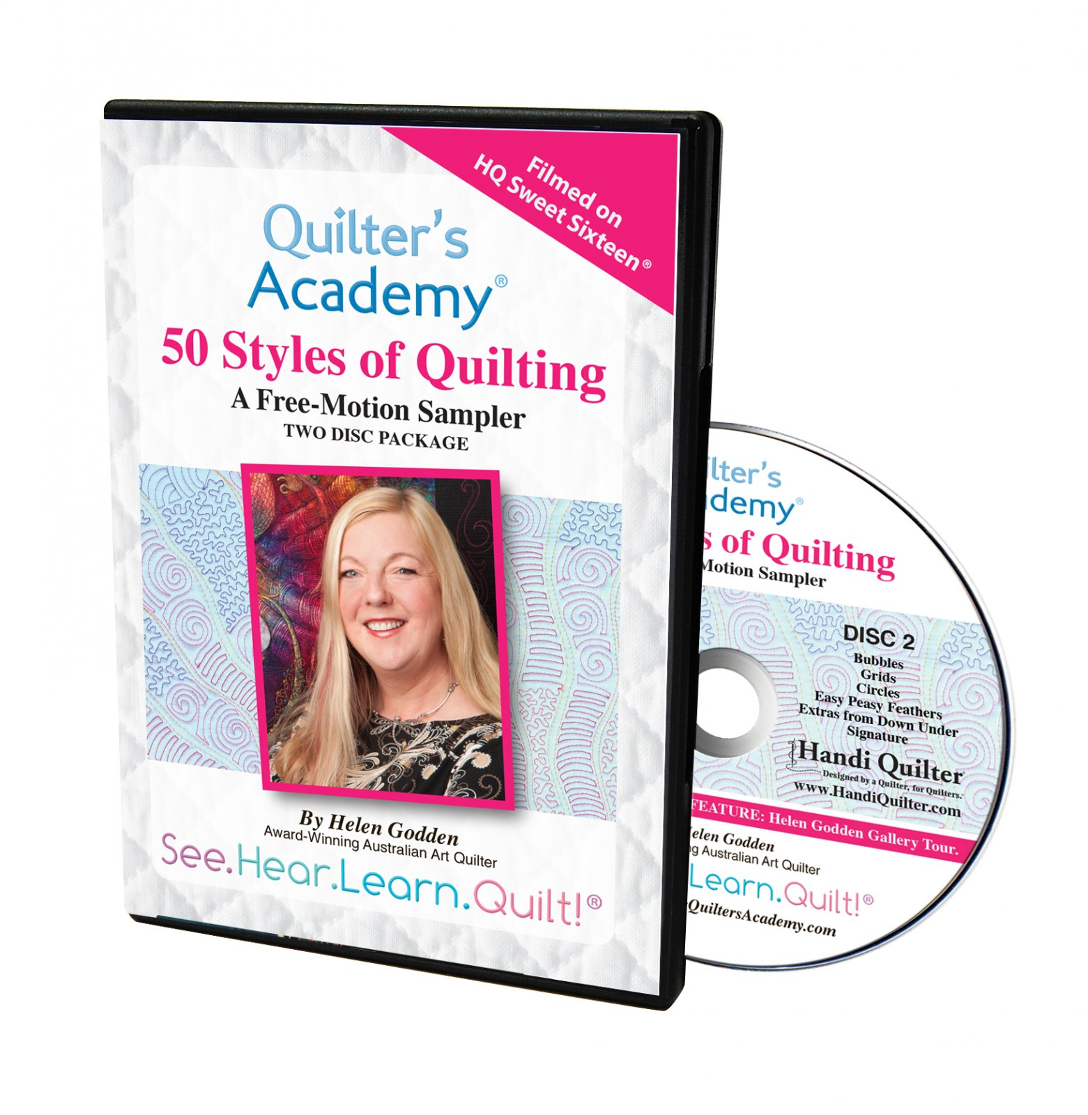 SOFT- 50 Styles Of Quilting (2 DVD Set) A Free-Motion Sampler