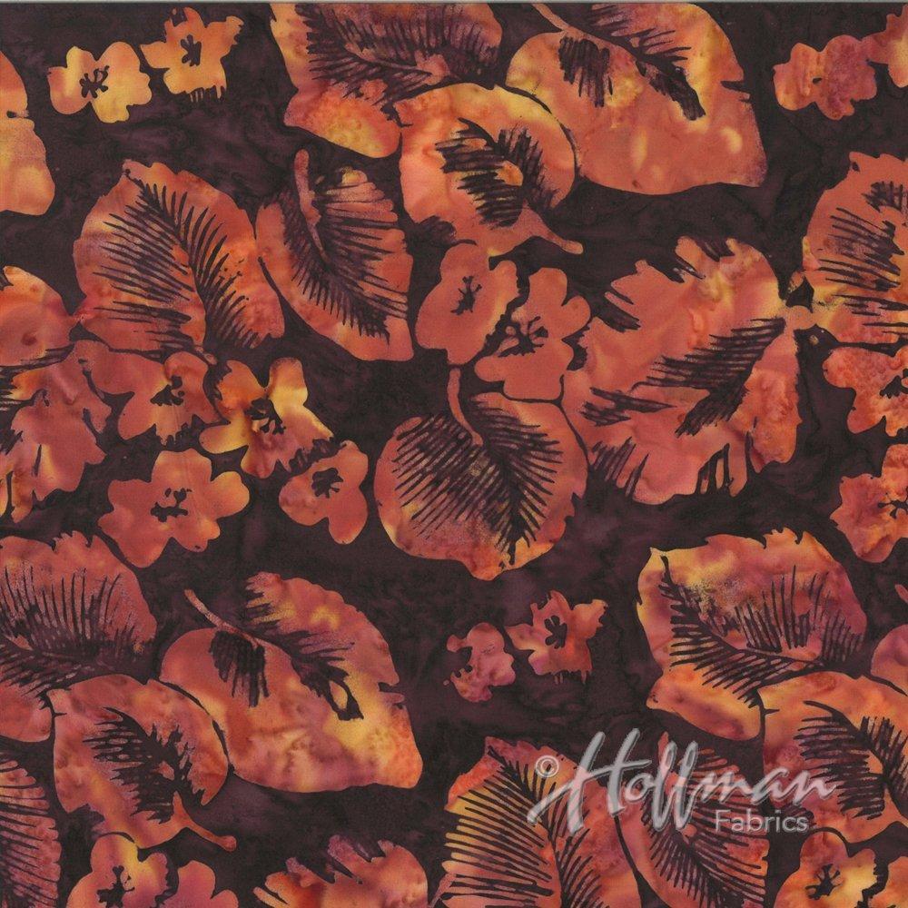 HOFF- Bali Batiks Tropical Leaves Nightshade