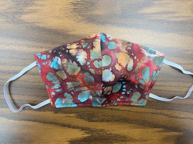Medium Handmade Fabric Masks Batch I Red Batik