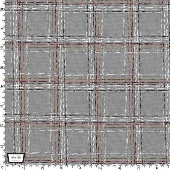 MM- Forest Gifts Grey Spotted Tartan