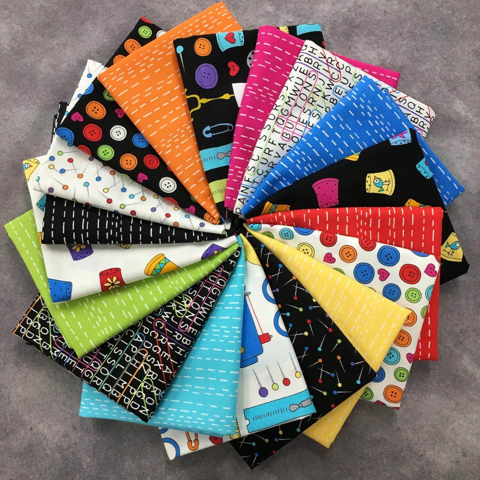 Sew Happy 18 FQ Bundle
