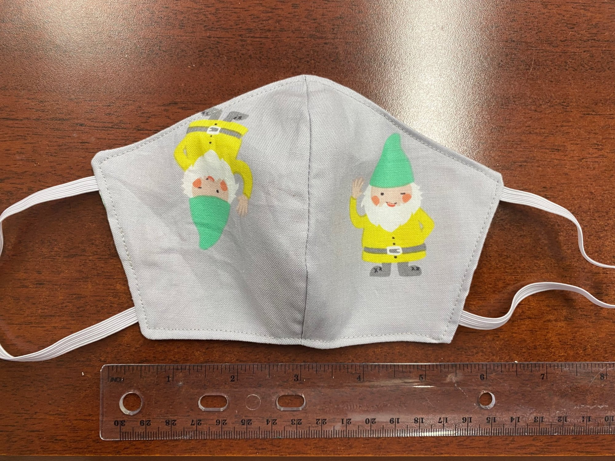 Small/Child Handmade Fabric Masks Batch I Gnome