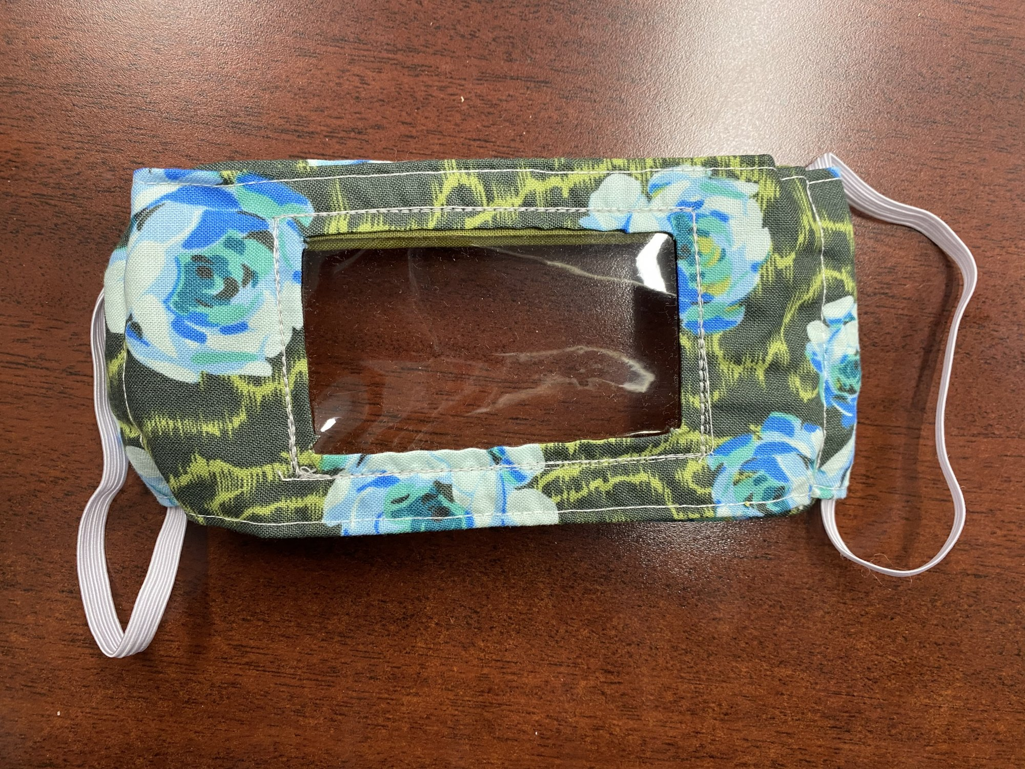 Communicator Handmade Fabric Masks Batch I Blue Roses