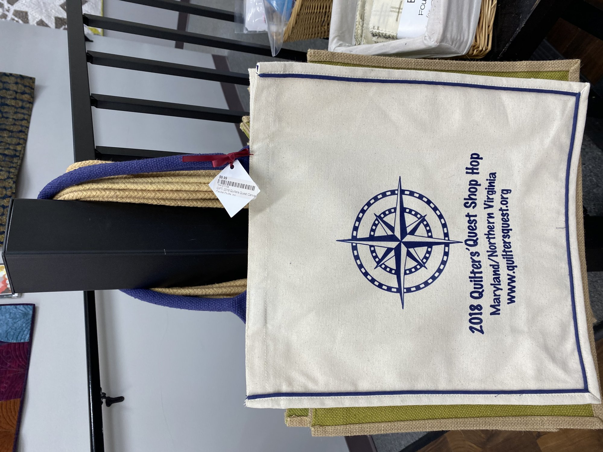 GIFT- 2018 Quilters Quest Canvas Tote