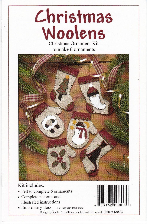 Kit- Christmas Woolens Ornament Kit