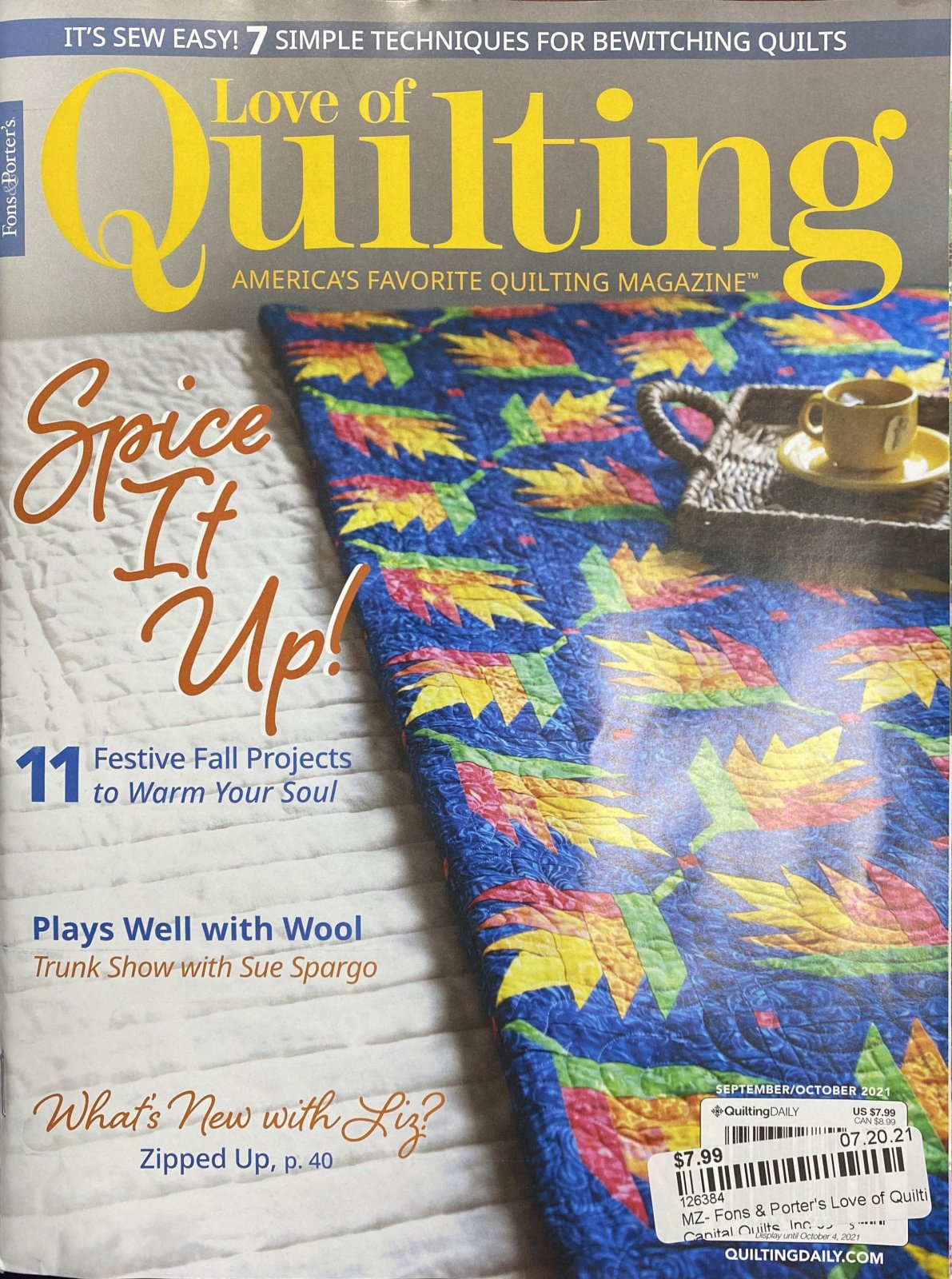 MZ- Fons & Porter's Love of Quilting Sep/Oct 2021