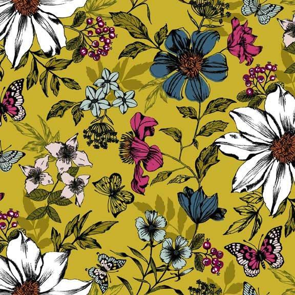 MAK- Botanica Large Floral Yellow