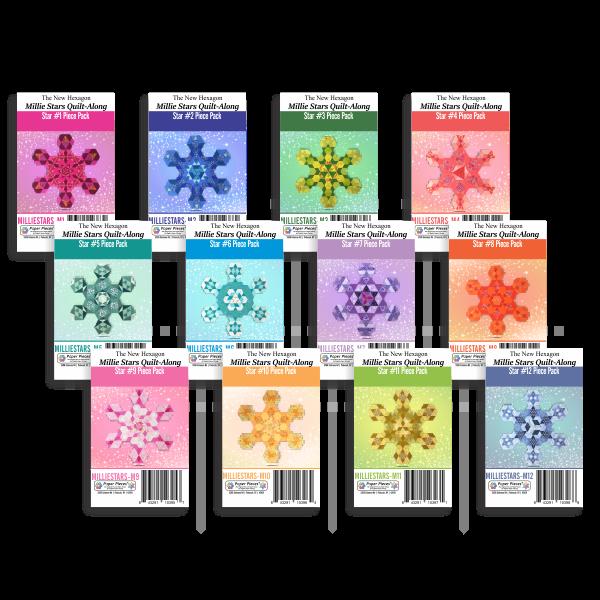 N- Paper Pieces Millie Stars Quilt-Along Complete Piece Pack
