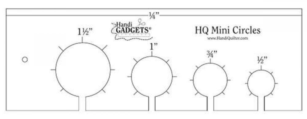 HQ- Mini Circles Template (Ruler)