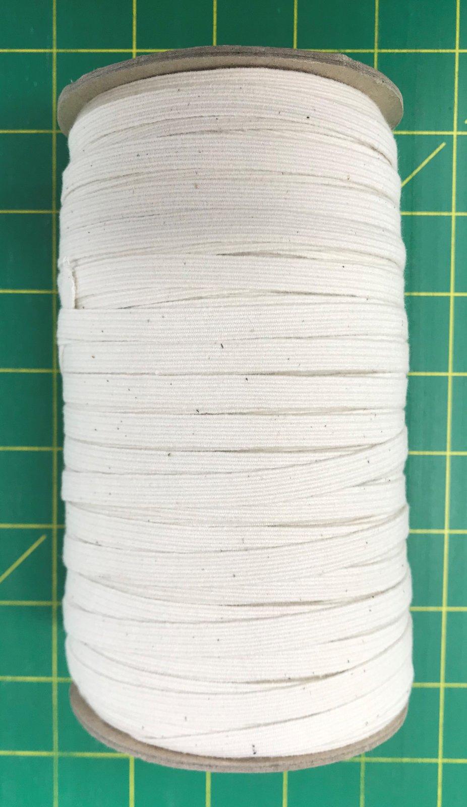 N- 1/4 Natural Cotton Braid Elastic