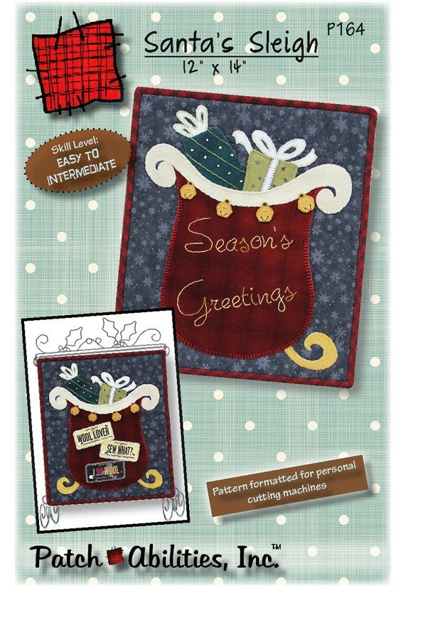 KIT- Santa's Sleigh Kit W/Buttons & Wool