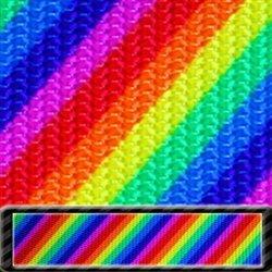 N- Rainbow Stripe Utility Polyester Webbing 1