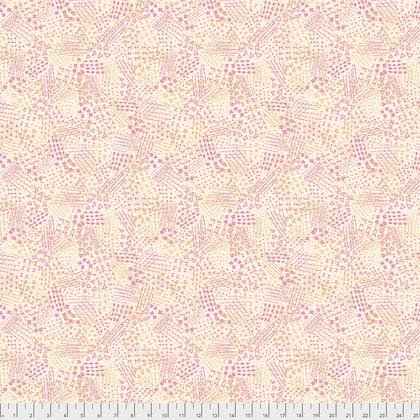 FREES- Echo Fragments Peach and Rose Geometric on White
