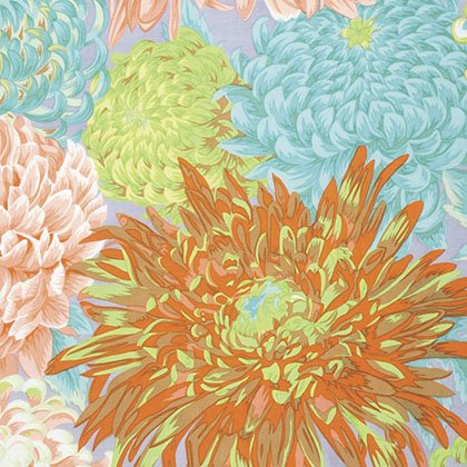 FREES- Fall 2015 Japan Chrysanthemum Spring  peach/blue/canary