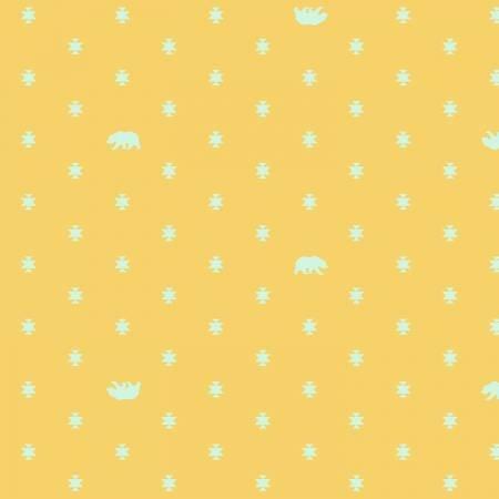 FREES- Spirit Animal Bear Hug Sun Kissed deep yellow/teal
