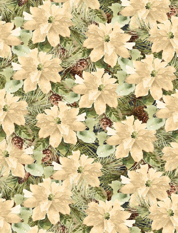 WILM- Woodland Holiday Poinsettias White