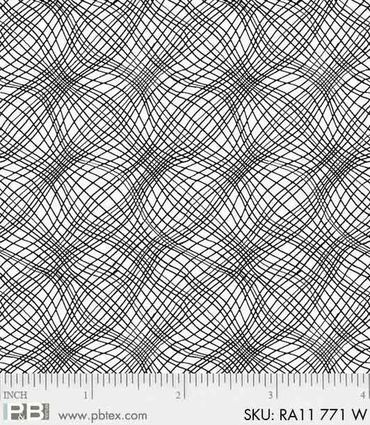 PB- Ramblings 11 White Grid 771 W